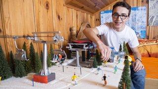 Passionné de remontées mécaniques, un jeune de Salvan gère sa propre station de ski depuis sa chambre