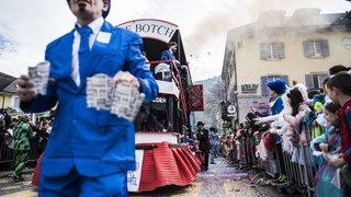 Le cortège du carnaval de Monthey