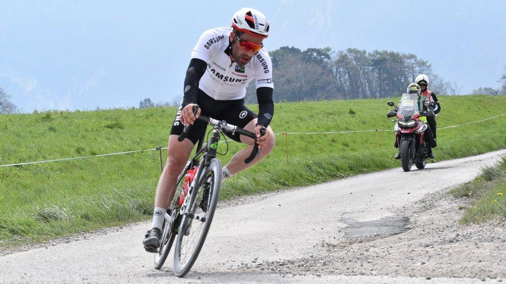 Tristan Marguet a fait la course en tête avant d'être rejoint par quatre coureurs.