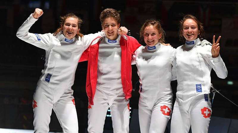 Le quaturo suisse: Fiona Hatz, Emilie Gabutti, Aurore et Angeline Favre.