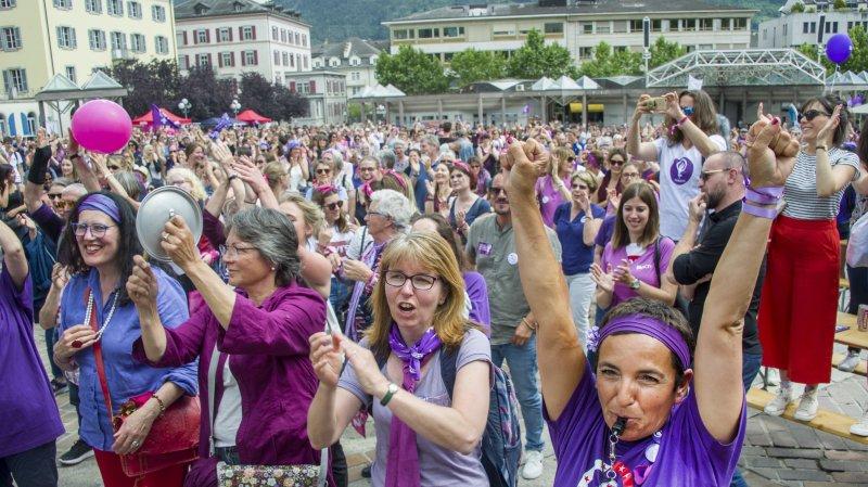 Grève des femmes: sur la place de la Planta, des discours emplis d'espoir
