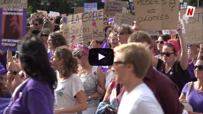 Grève des femmes: 12 000 personnes à Sion pour l'égalité femme-homme