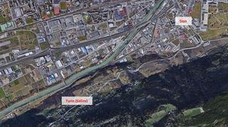 Route de Nendaz: le tronçon Sion - Turin fermé durant la nuit