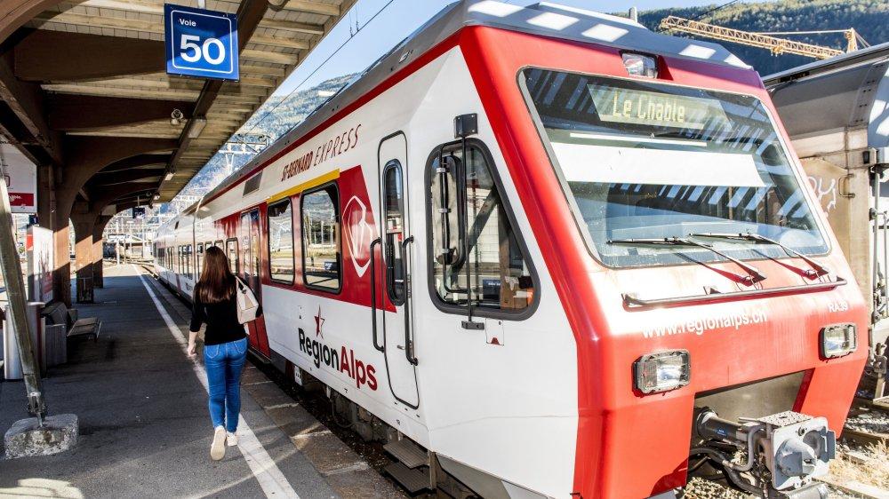 RegionAlps devrait assurer 4 ou 5 paires de trains quotidiens sur le tronçon Monthey-Lausanne dès le 15 décembre.
