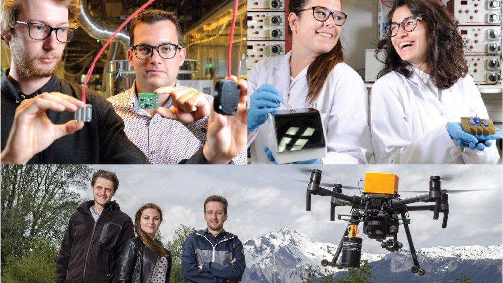 Un capteur de flux thermique, un outil de diagnostic et un drone autonome. Ces trois jeunes start-up ont obtenu 150 000 de francs chacune pour faire une entreprise de leur travail de diplôme.