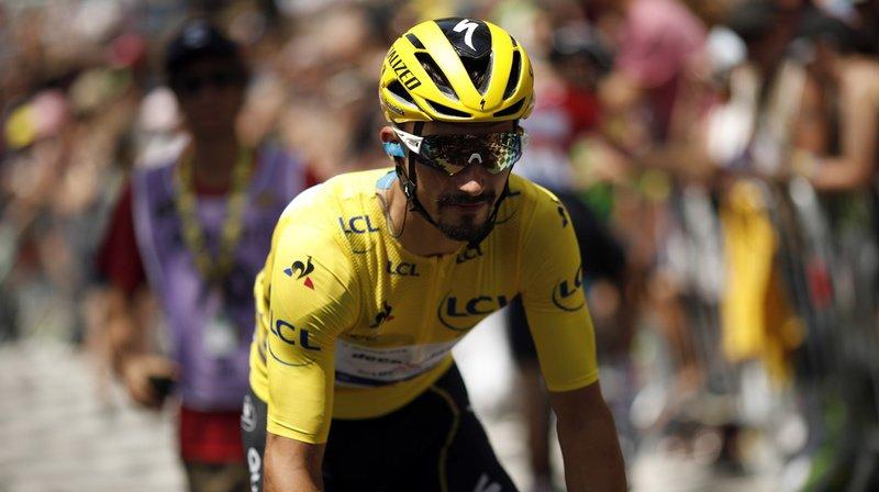 Le maillot jaune Julian Alaphilippe a remporté la 13e étape du Tour de France. (Archives)