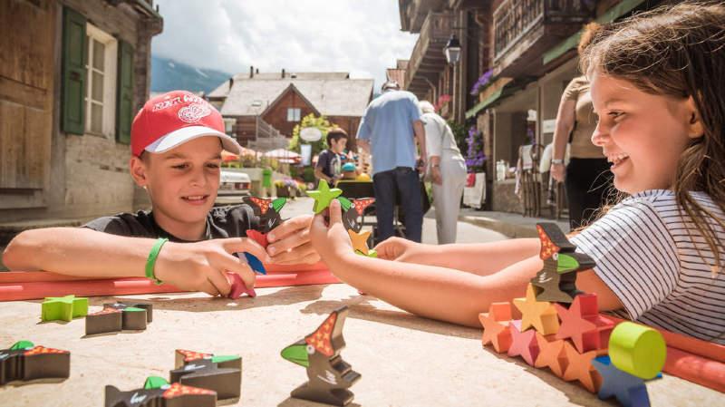 Comme ici à Champéry, les familles et les enfants ont toute une gamme d'activités à leur disposition.