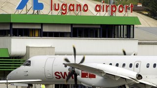 Nuages noirs  sur l'aéroport luganais