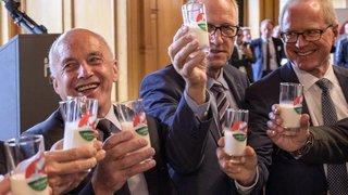 Petit bol d'air pour le lait suisse