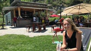 Sierre: la buvette du lac de Géronde sur le sentier de la durabilité