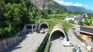 Haut-Valais: le tunnel de Gamsen rouvrira totalement mardi