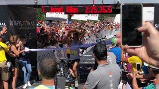 L'arrivée de Kilian Jornet en vidéo