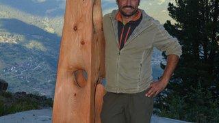 Montagn'Art de Thyon: l'originalité du sculpteur sur bois italien Maurizio Perron couronnée