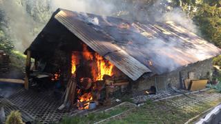 Arbaz: un incendie ravage un hangar