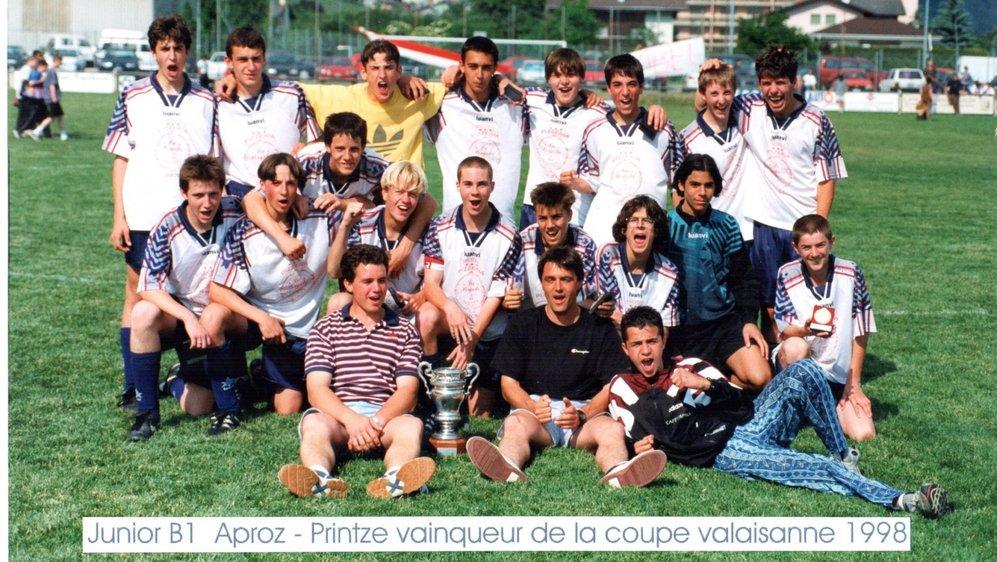 Les juniors B1 du mouvement de la Printse ont remporté la Coupe valaisanne en 1998.