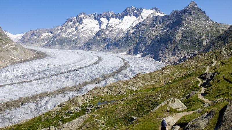 Le plus grand glacier alpin n'échappera pas au réchauffement.