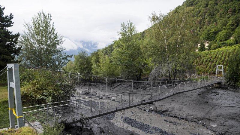 Lave torrentielle: les recherches sont désormais ciblées à Chamoson