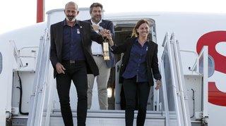 JOJ 2020: la flamme des Jeux olympiques de la jeunesse est arrivée en Suisse