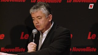 Fédérales 2019: face à face sur la thématique de l'hydroélectricité entre Jean-Luc Addor UDC et Jean-Pascal Fournier Les Verts