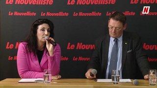 Fédérales 2019: face à face sur la thématique UE, accord cadre et migration entre Paola Riva Gapany PS et Franz Ruppen UDC, candidats au Conseil national