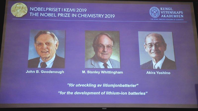 Le Nobel de chimie aux inventeurs des batteries lithium-ion