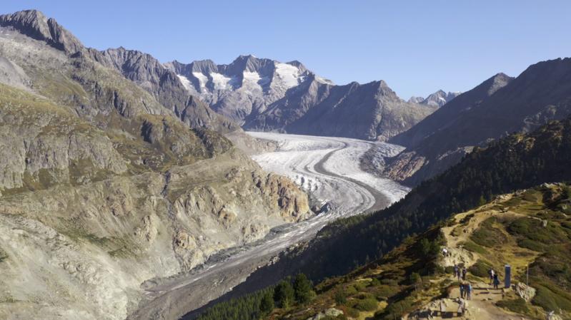 «Le Valais depuis les airs»: vol au-dessus du glacier d'Aletsch