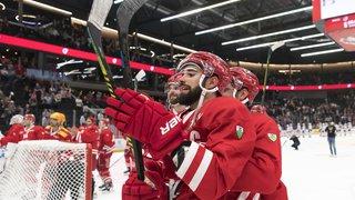 Hockey: Bienne solide leader, le LHC sur le podium en National League