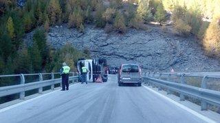Evolène: la route d'Arolla rouverte après un accident