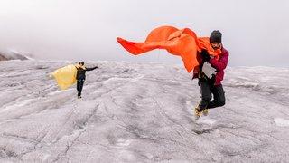 La Dancewalk - Ultra Valais organisée par l'Edhéa a démarré au glacier du Rhône