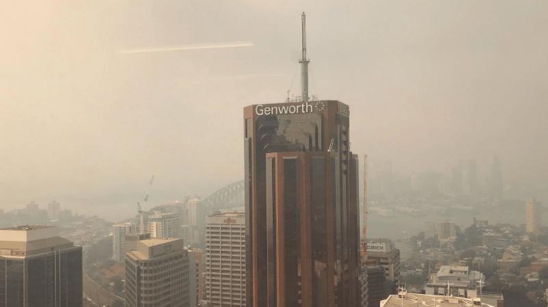 Australie: Sydney noyée dans un nuage de fumée provoqué par des incendies