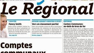 Presse romande: l'hebdomadaire Le Régional se rapproche du groupe ESH Médias