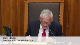 Hans Stöckli présidera le Conseil des Etats