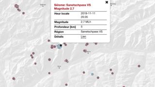En Valais, la terre tremble de nouveau ce lundi soir