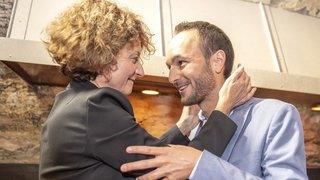La joie de Marianne Maret et la déception de Mathias Reynard: images fortes et réactions