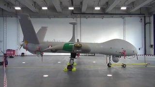 Le nouveau drone de l'armée présenté à Emmen (LU)
