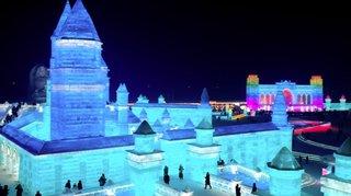 Festival de sculptures sur glace en Chine: une ville construite en glace