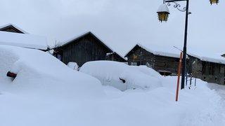 Paquet de neige en Valais, prudence sur les routes!