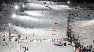 Slalom exhibition nocturne à Crans-Montana