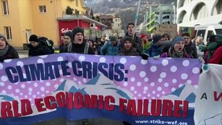 WEF 2020: Coup d'envoi de la marche climatique sur Davos